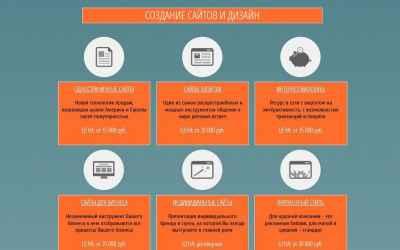 Создаем сайты, лендингов, порталов оказываем услуги